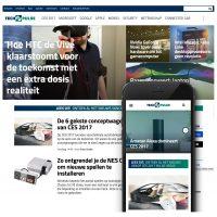 Web design of TechPulse
